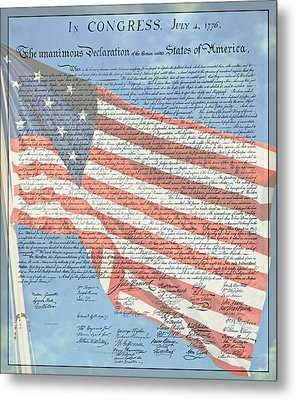 The Declaration Of Independence - Star-spangled Banner Metal Print