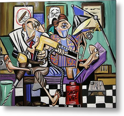 The Dentist Is In Root Canal Metal Print by Anthony Falbo