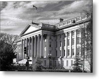 The Department Of Treasury Metal Print by Olivier Le Queinec