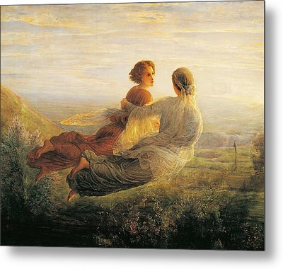 The Departure Of The Soul Metal Print by Louis Janmot