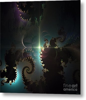 Metal Print featuring the digital art The Depths by Arlene Sundby