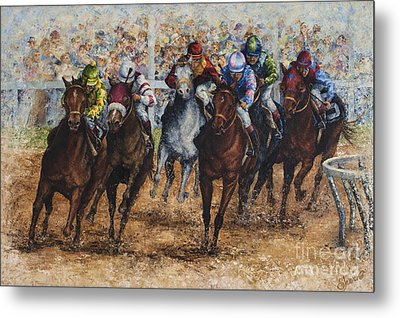 The Derby Metal Print by Sher Sester