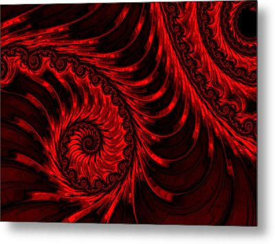 The Descent Metal Print by Susan Maxwell Schmidt
