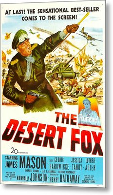 The Desert Fox, Aka The Desert Fox The Metal Print