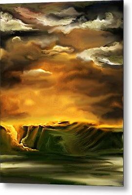 Metal Print featuring the painting The Desertland by Persephone Artworks