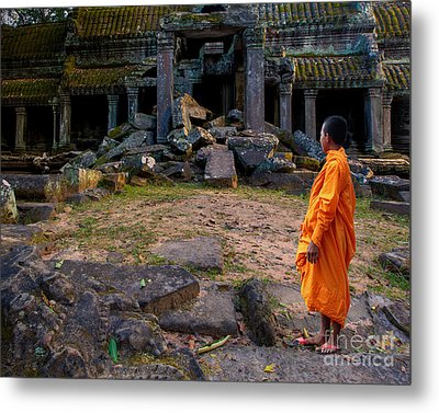 The Destruction Of Ta Prohm Metal Print by Pete Reynolds