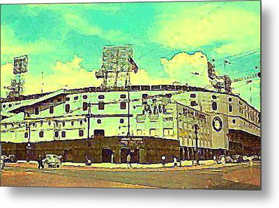 The Detroit Tigers Briggs Stadium In The 1950s Metal Print
