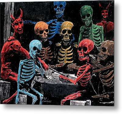 The Devil And Friends Metal Print by Jeremy Moore
