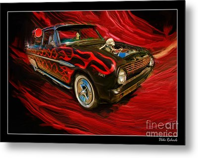 The Devil's Ride Metal Print