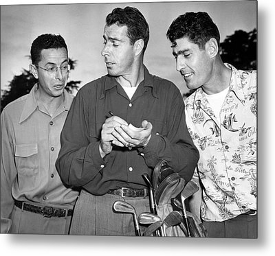 The Dimaggio Brothers Metal Print by Underwood Archives