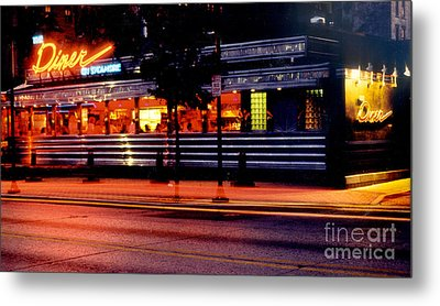 The Diner On Sycamore Metal Print by Gary Gingrich Galleries