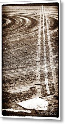 The Dirt Field Metal Print by John Rizzuto