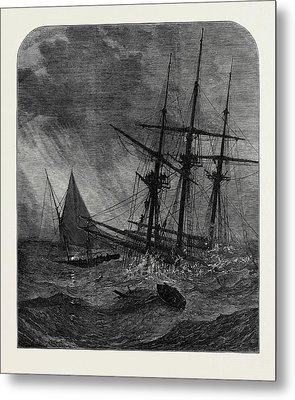 The Disaster In The Channel Cutters Boat Taking Survivors Metal Print