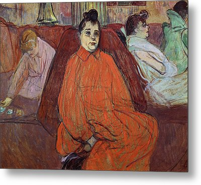 The Divan, 1893 Gouache & Pastel On Cardboard Metal Print by Henri de Toulouse-Lautrec