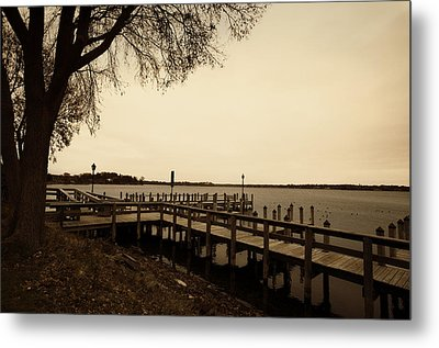 The Docks On Lake Minnetonka Metal Print by Susan Stone