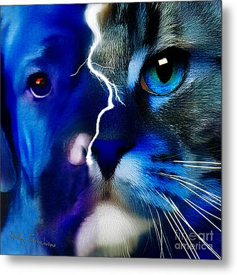Metal Print featuring the digital art We All Connect by Kathy Tarochione
