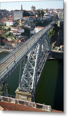 The Dom Luis I Bridge In Porto Metal Print