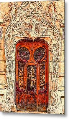 The Door Metal Print by Jack Zulli