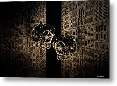 The Door Of The Time Metal Print by Ramon Martinez