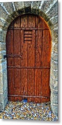 The Door - Vintage Art By Sharon Cummings Metal Print