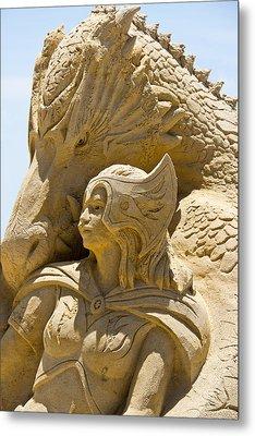 The Dragon And The Goddess Metal Print