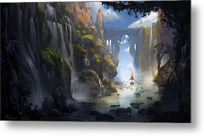 The Dragon Land Metal Print by Kristina Vardazaryan