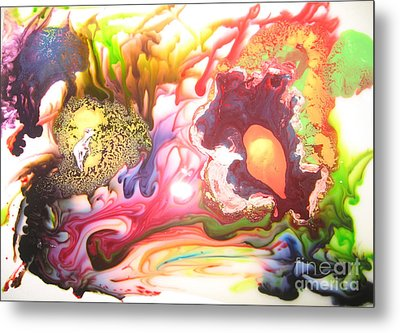 Metal Print featuring the painting The Dragon by Lucy Matta