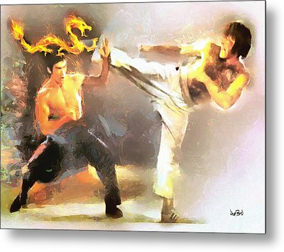 The Dragon Vs Chuck - The Block Up - 4 Of 7 Metal Print
