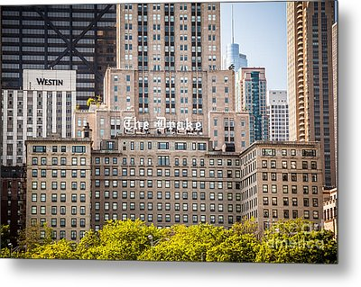 The Drake Hotel In Downtown Chicago Metal Print