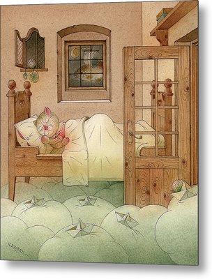 The Dream Cat 10 Metal Print by Kestutis Kasparavicius
