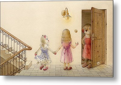 The Dream Cat 18 Metal Print by Kestutis Kasparavicius