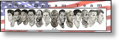 the Dream Team Metal Print by Tamir Barkan