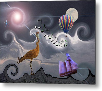 The Dream Voyage - Mad World Series Metal Print by Amanda Vouglas