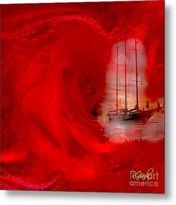 Metal Print featuring the digital art The Dreaming Rose - Fantasy Art By Giada Rossi by Giada Rossi
