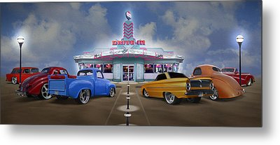 The Drive In Metal Print by Mike McGlothlen