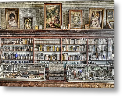 The Drug Store Counter Metal Print by Ken Smith