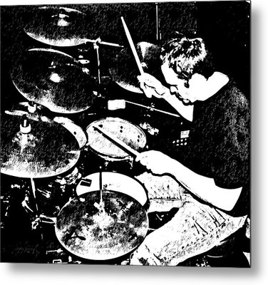 The Drummer Metal Print by Chris Berry