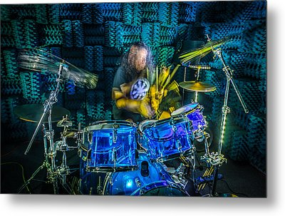 The Drummer Metal Print