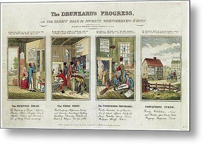 The Drunkard's Progress Metal Print by Library Of Congress