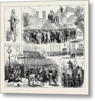 The Dublin Police Strike 1. A Usurper 2 Metal Print by English School