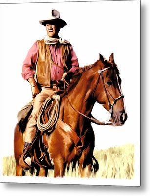 The Duke  John Wayne Metal Print by Iconic Images Art Gallery David Pucciarelli