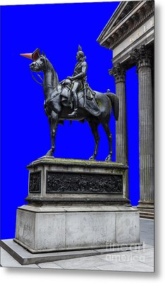 The Duke Of Wellington Goma Blue Metal Print by John Farnan