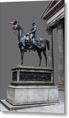 The Duke Of Wellington Goma  Grey Metal Print by John Farnan