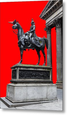 The Duke Of Wellington Red Metal Print by John Farnan