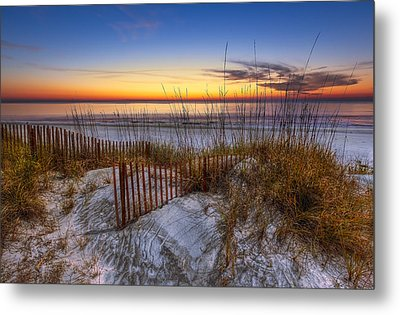 The Dunes At Sunset Metal Print by Debra and Dave Vanderlaan