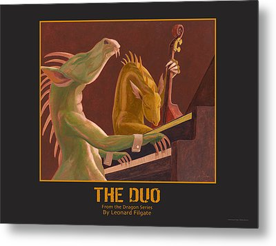 The Duo Metal Print