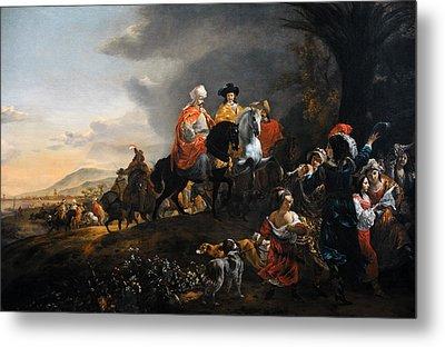 The Dutch Ambassador On His Way To Isfahan, C. 1653-1659, By Jan Baptist Weenix 1621-c.1659 Metal Print by Bridgeman Images