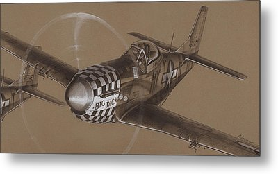 The Duxford Boys Drawing Metal Print by Wade Meyers