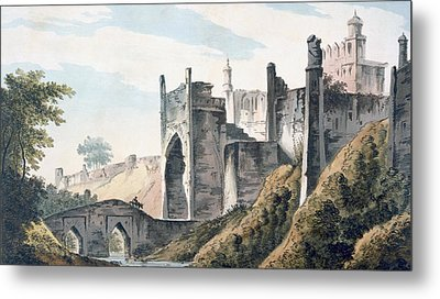 The East End Of The Fort Of Mongheer Metal Print by William Hodges