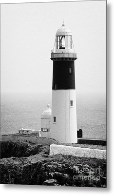 The East Light Lighthouse Altacarry Altacorry Head Rathlin Island Ireland  Metal Print by Joe Fox